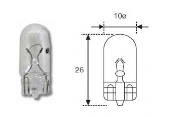 LAMPARA MOTO 12V 05W S/C T10
