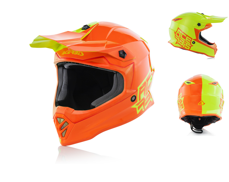 HELMET ECLIPSE JUNIOR Giallo/Arancio s.50