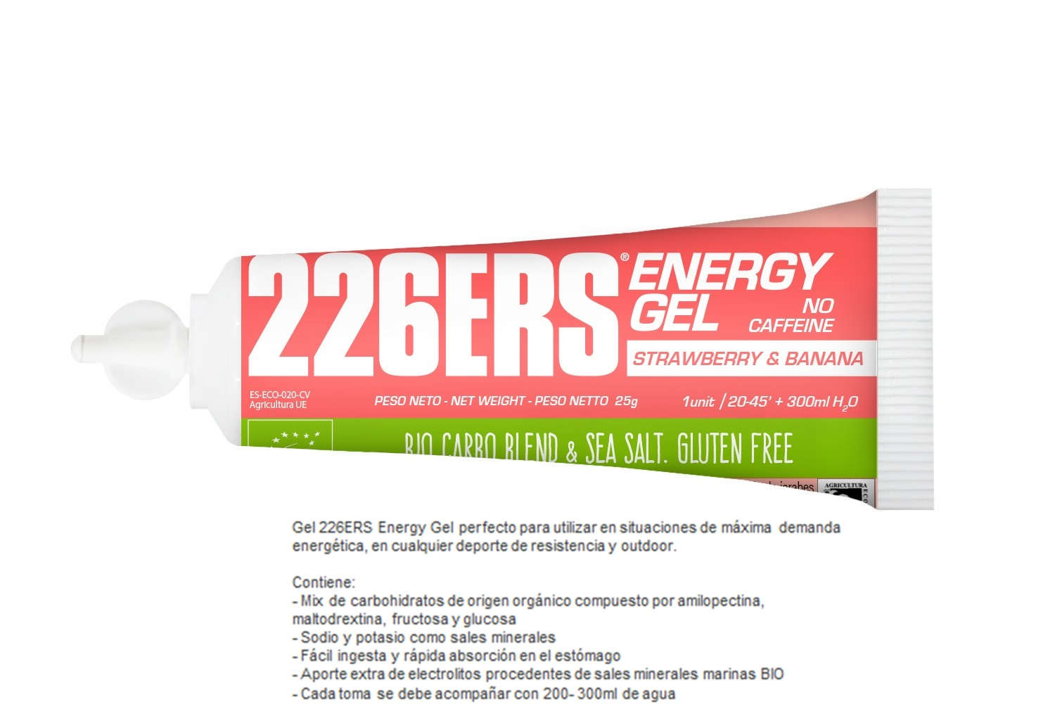 226ERS ENERGY GEL BIO 25GR STRAWBERRY & BANANA