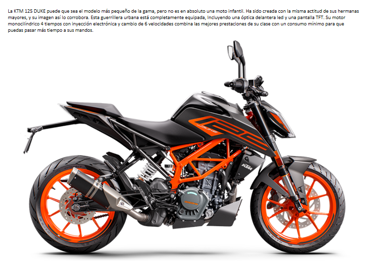 MOTO KTM 125 DUKE 2021