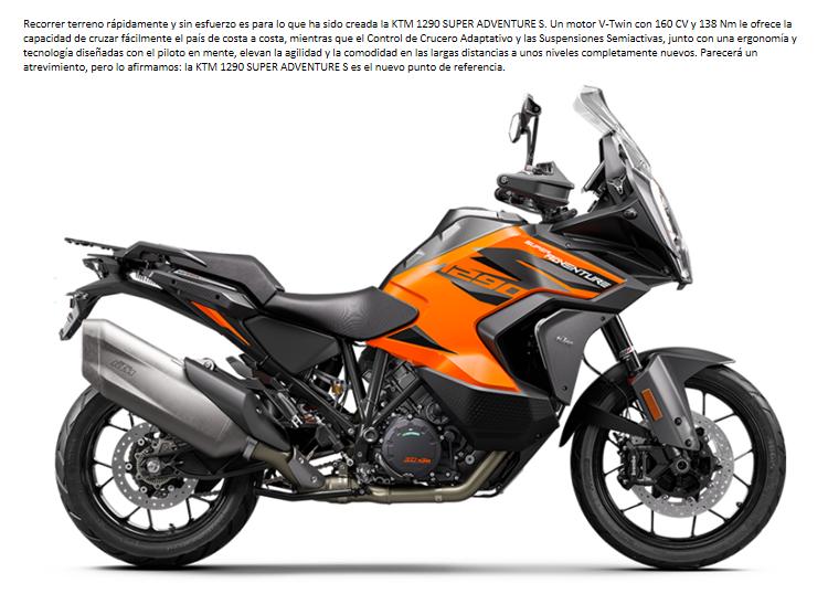 MOTO KTM 1290 SUPER ADVENTURE S 2021