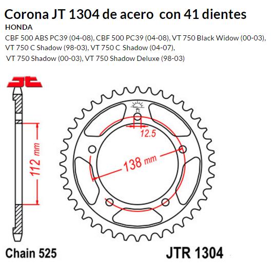 CORONA JT 1304 SUN 4483 41 dientes