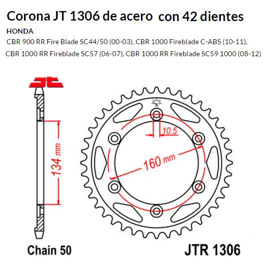 CORONA JT 1306 SUN 5635 42 dientes