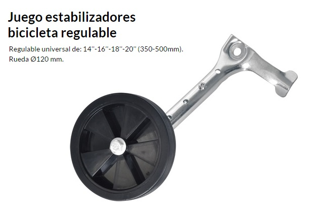 ESTABILIZADOR BICICLETA REGULABLE JUEGO