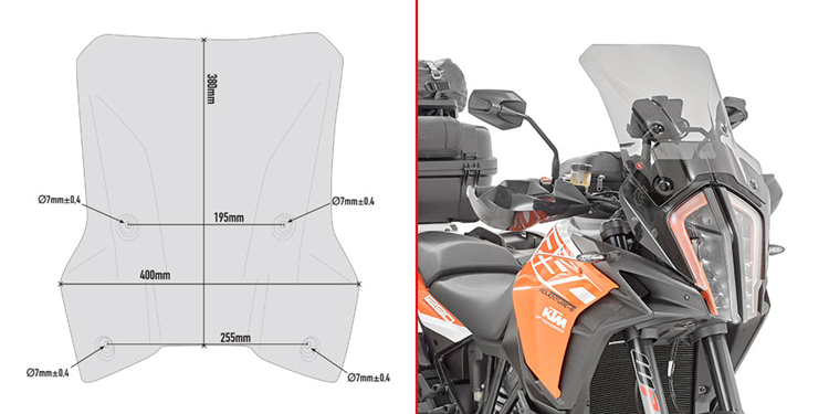 CUPULA GIVI KTM 1290 SUPER ADVENTURE
