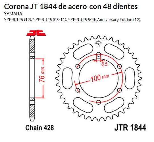 CORONA JT 1844 de acero con 48 dientes