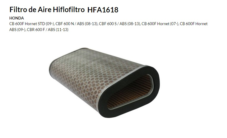 FILTRO AIRE HIFLOFILTRO HFA 1618