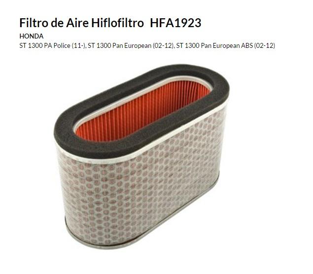 FILTRO AIRE HIFLOFILTRO HFA 1923