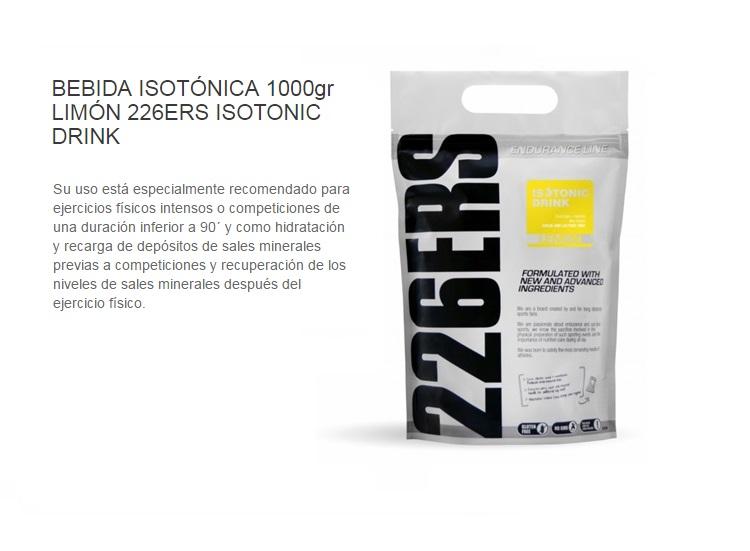 226ERS ISOTONIC DRINK LEMON 1KG.