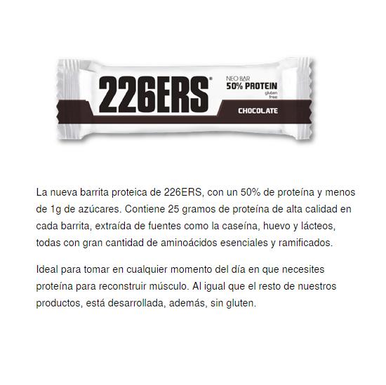 226ERS NEO BAR 50% PROTEINE CHOCOLATE 50GR