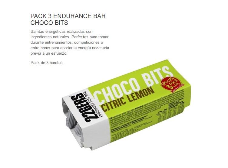 226ERS CHOCO BITS BAR 60GR LEMON PACK 3U.