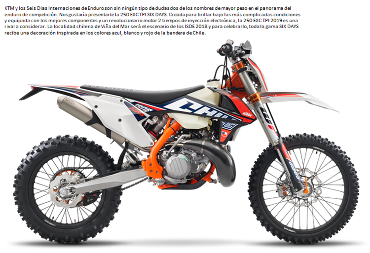 MOTO KTM 250 EXC SIX DAYS TPI 19