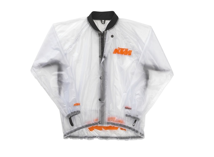 CHAQUETA KTM IMPERMEABLE TRANSPARENT L