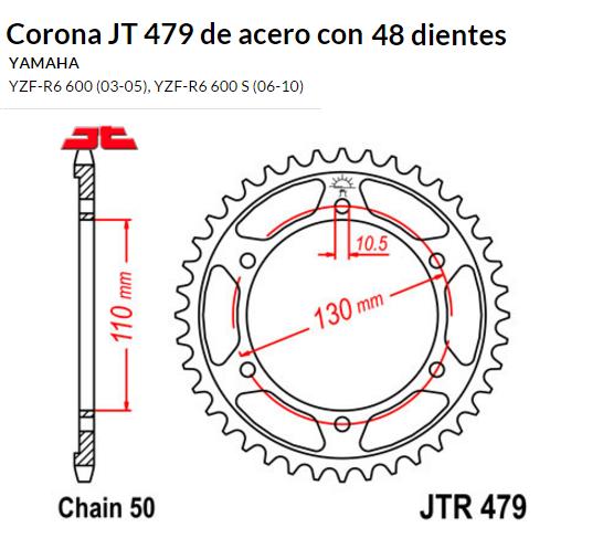 CORONA JT 479 SUN 5474 48 dientes
