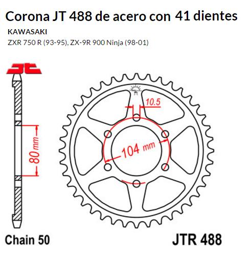 CORONA JT 488 de acero con 41 dientes