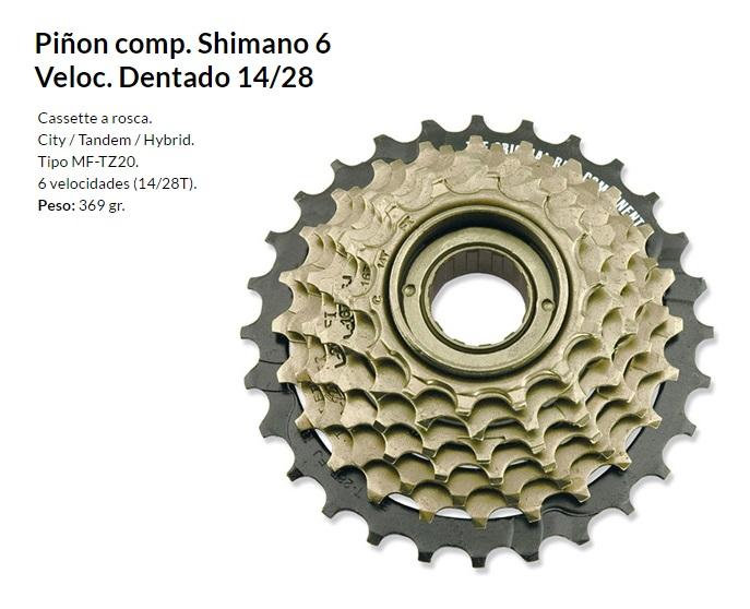 PIñON SHIMANO 6V 14-28 ROSCA