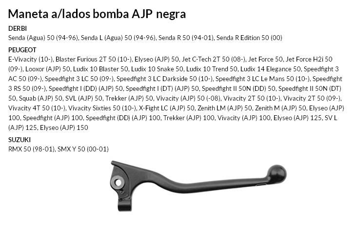 Maneta a/lados bomba AJP negra