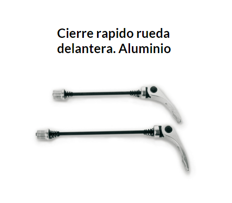 CIERRE RUEDA RAPIDO DELANTERA ALUMINIO