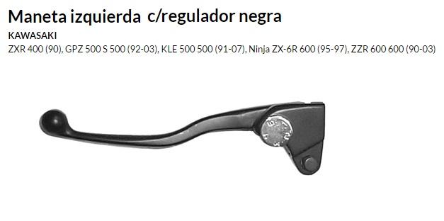 Maneta izquierda c/regulador negra