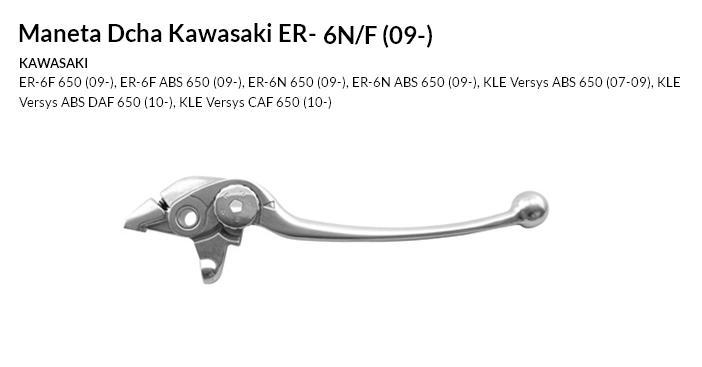 Maneta Dcha Kawasaki ER-6N/F (09-)