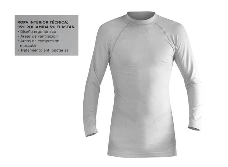 CAMISETA ACERBIS TECNICA MANGA LARGA WHITE S/M