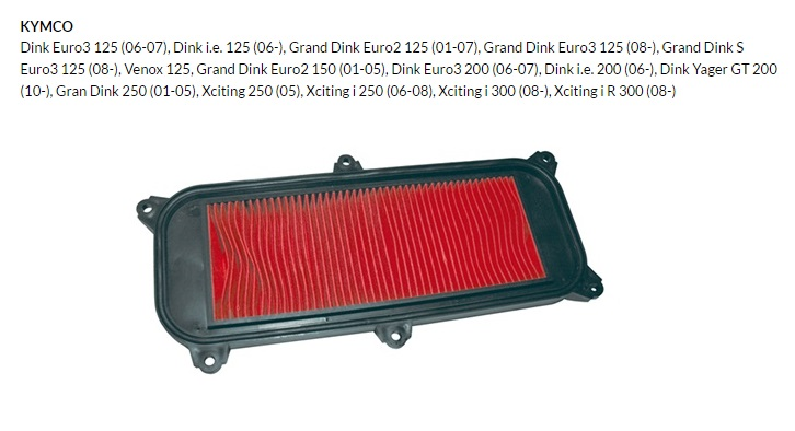 FILTRO AIRE AUTOTEC KYMCO GRAND DINK 125 (9166)