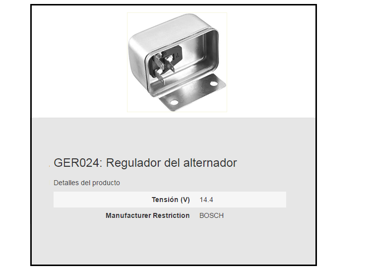 REGULADOR ALTERNADOR BERU GER024