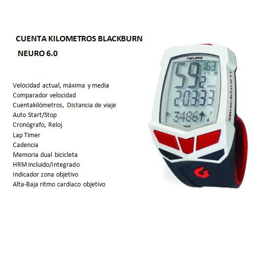CUENTAKILOMETROS BLACKB NEURO 6.0