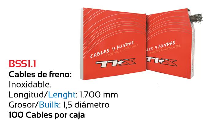 CABLE TKX FRENO BICICLETA INOX 1.5 MTB C100