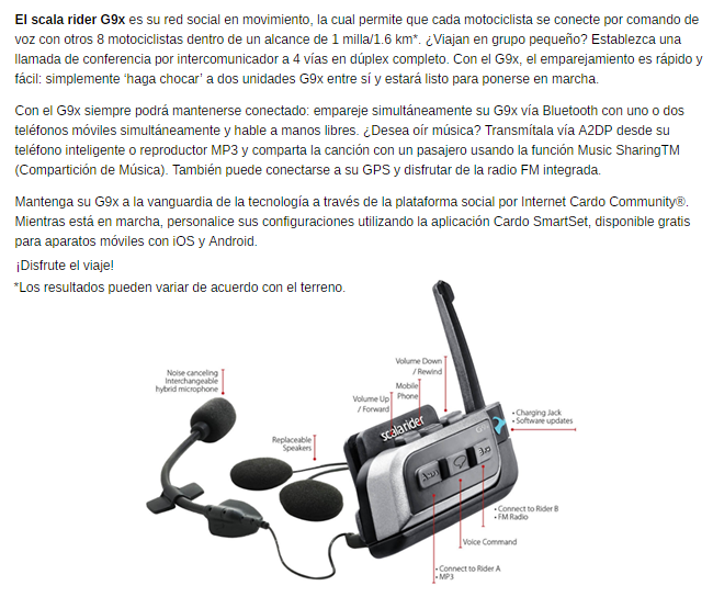 INTERCOMUNICADOR CARDO G9X