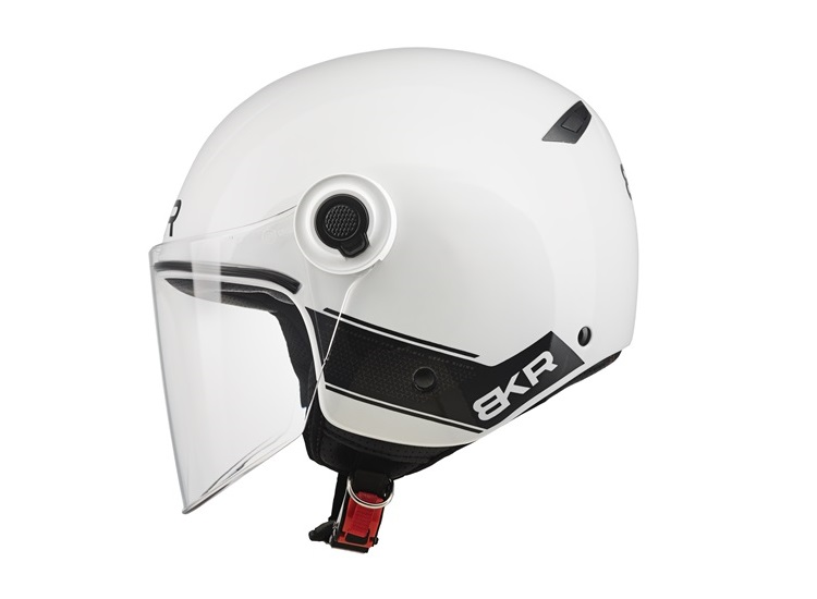 CASCO MOTO BKR JET XPRESSO OF510 A0 BLANCO PERLA BRILLO L