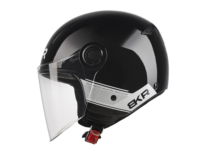 CASCO MOTO BKR JET XPRESSO OF510 A1 NEGRO BRILLO S