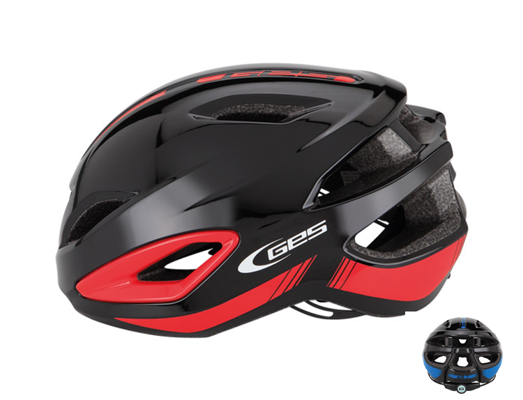 CASCO GES AIR-7 NEGRO ROJO M