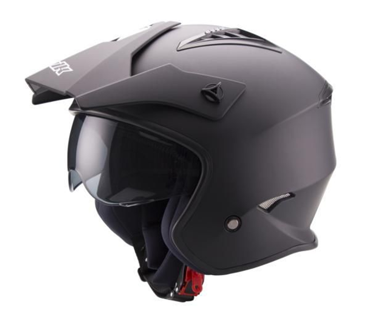 CASCO UNIK TRIAL CT07 GAFAS NEGRO MATE L