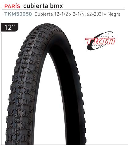 CUBIERTA BICICLETA TKM 300 (12-1/2X2-1/4)