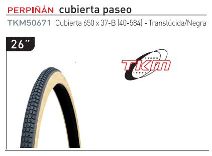 CUBIERTA TKM 650-37B PASEO