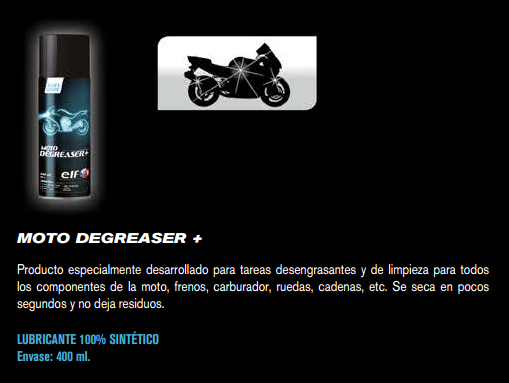 ACEITE ELF MOTO DEGREASER + 400 ML.