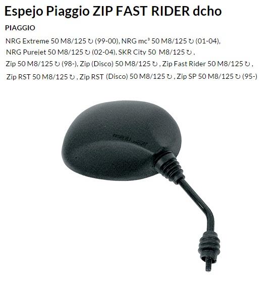 ESPEJO E103D M8 PIAGGIO ZIP DERECHO