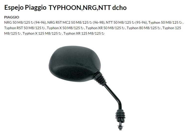 ESPEJO E106D M8 PIAGGIO TYPHOON DERECHO