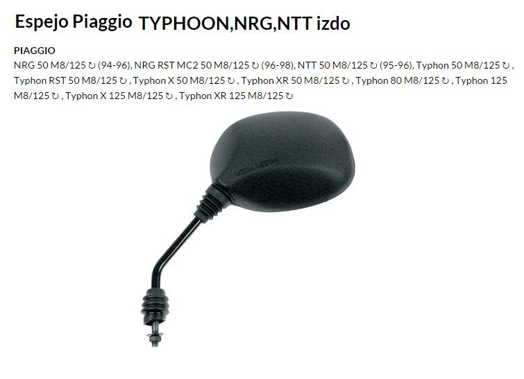 ESPEJO E106I M8 PIAGGIO TYPHOON IZQUIERDO