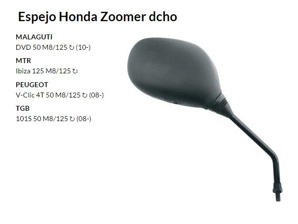 ESPEJO E140D M8 PEUGEOT V-CLIC DERECHO