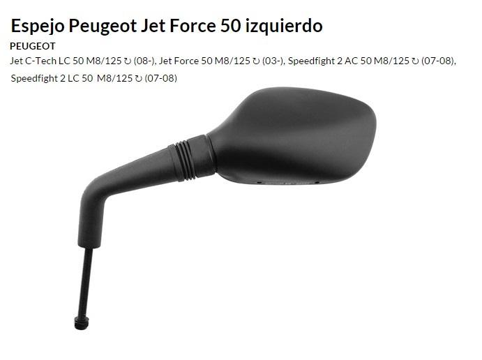 ESPEJO E158I PEUGEOT JET FORCE IZQUIERDO