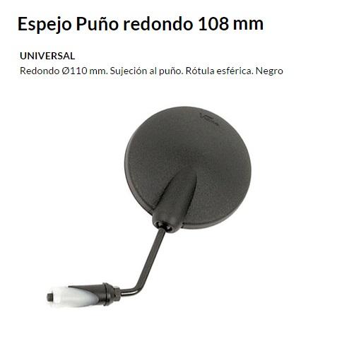 ESPEJO E16 UNIVERSAL AL PUñO NEGRO