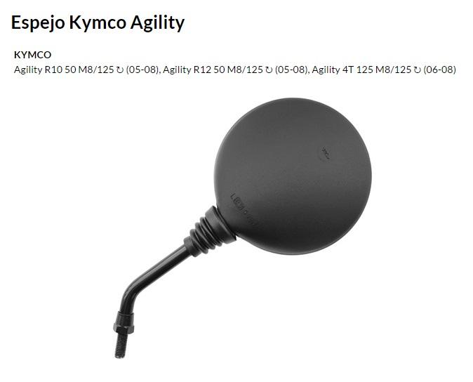 ESPEJO E215 M8 KYMCO AGILITY AMBOS LADOS