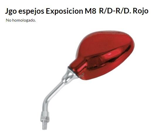 ESPEJO E29RJ M8 EXPOSICION ROJO JUEGO