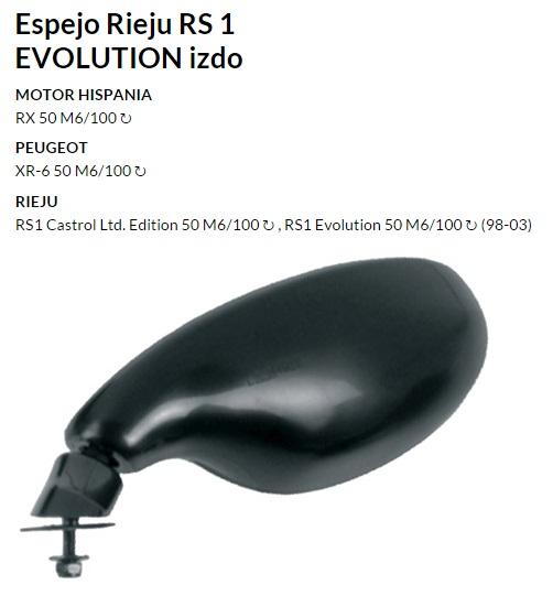 ESPEJO E467I RIEJU RS1 EVOLUTION IZQUIERDO