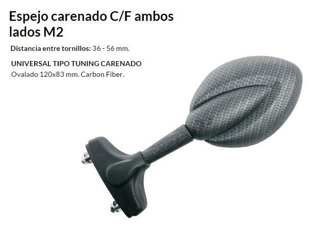 ESPEJO E711 AL CARENADO CARBONO AMBOS LADOS