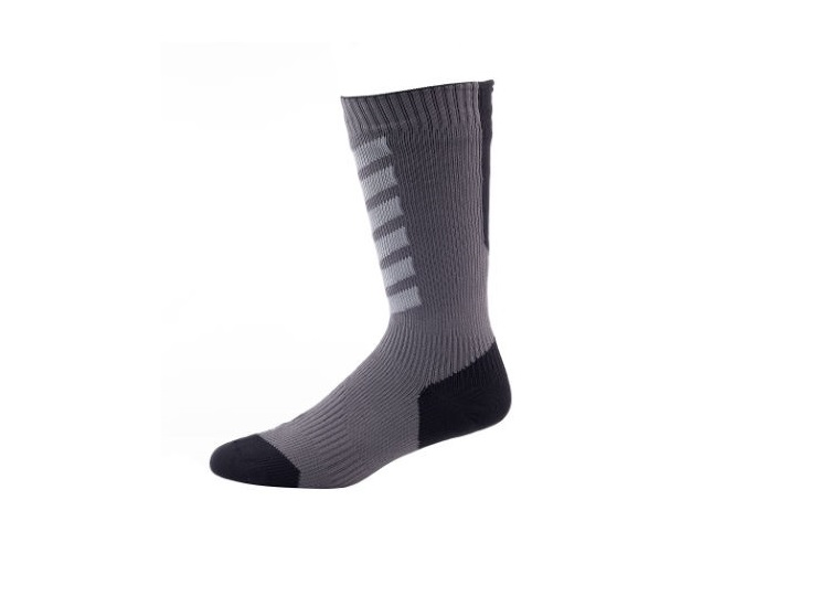 CALCETINES SEALSKINZ ANKLE HYDROSTOP NEGRO GRIS XL 47-49
