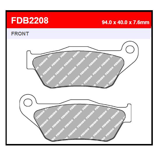 PASTILLA FERODO FDB2208EF