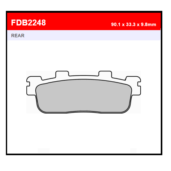 PASTILLA FERODO FDB2248EF